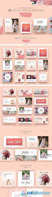 Pink Peach Social Media Designs - 1415816