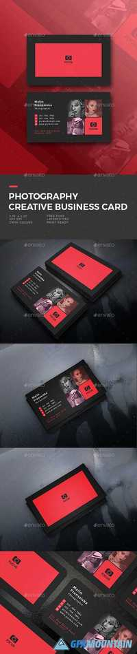 Graphicriver Photography Creative Business Card 19673923