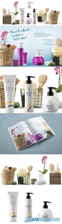 Cosmetics Packaging Mockups & Scene Creator Elements