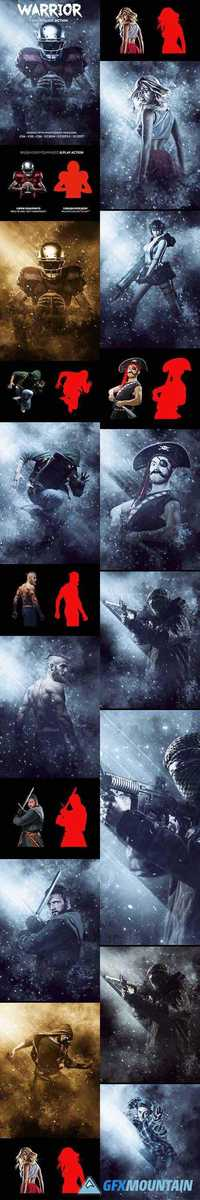 GraphicRiver - Warrior Photoshop Action - 19722080