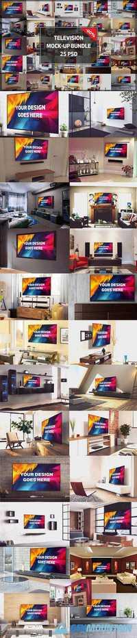 Television Display Mock-up Bundle#2 1350810