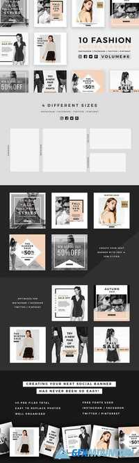 Fashion Social Banner Pack 6 1028650