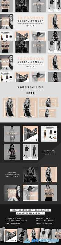 Fashion Social Banner Pack 2 935630