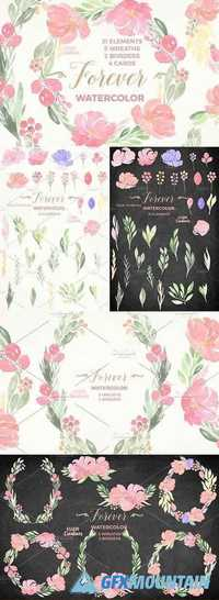 Watercolor Floral Bundle - Forever 1060015
