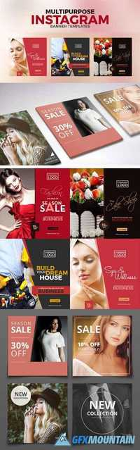8 Multipurpose PSD Banners Templates