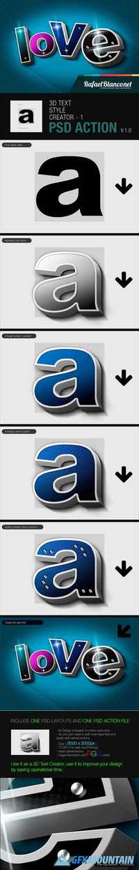 3D Text Styling by Actions - 1 14231648