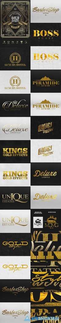 Gold Text Effect 19836003