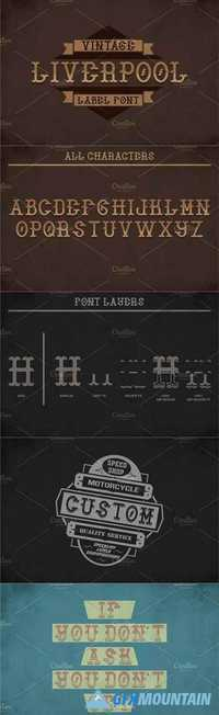 Liverpool Vintage Typeface 1445414