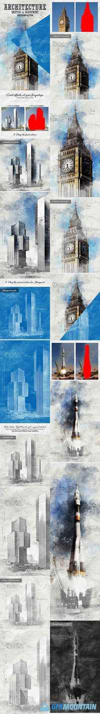 Architecture sketch and blueprint photoshop action 19872456 free architecture sketch and blueprint photoshop action 19872456 malvernweather Choice Image
