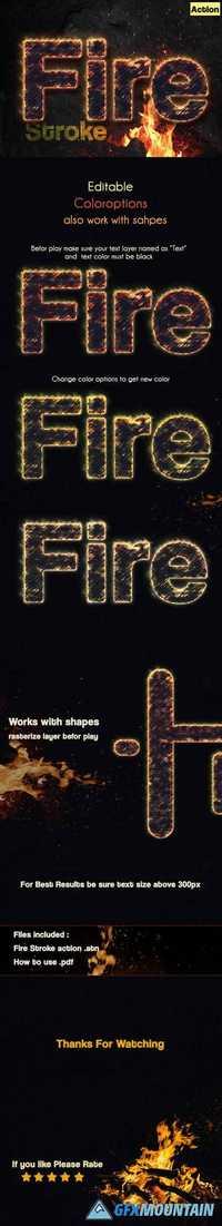 Fire Stroke Text Effect 19878246
