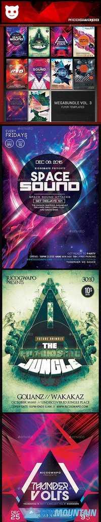 Mega Bundle Vol 2 Flyer Templates 19897286