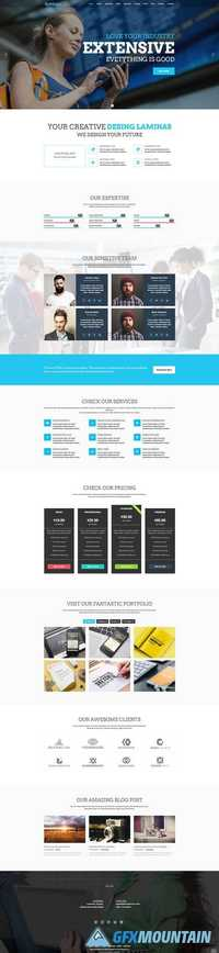Laminas – One page Multipurpose HTML5 Template