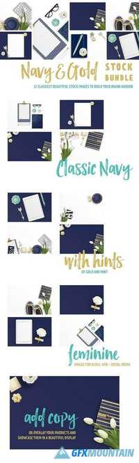 Navy & Gold Stock Bundle 1412834