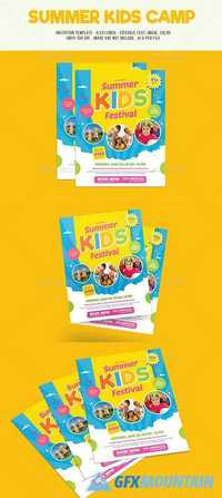 Summer Kids Camp Flyer 19991500 Free Download Graphics