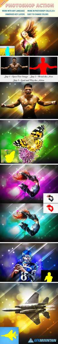 Glitters Effect Photoshop Action 20000869