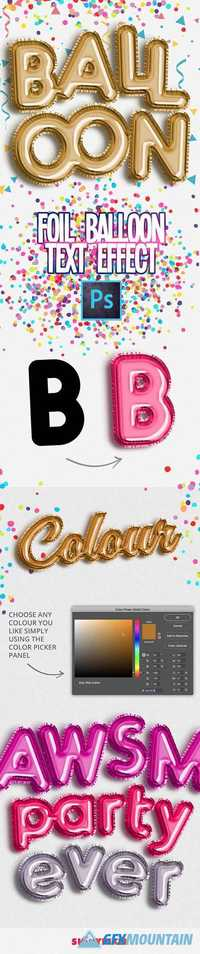 Foil Balloon Text Effect for Photoshop 19761729