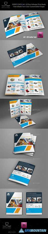 Stationery Products Catalog Bi- Fold Brochure Template 19999624