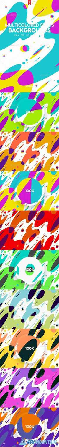 Abstract Multicolored Spots Backgrounds 20105853