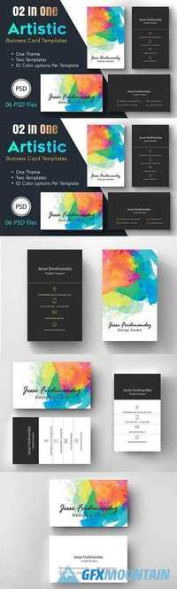 Artistic Business Card Template-005 1285865