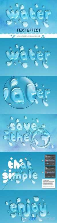 WATER TEXT EFFECT 1285571