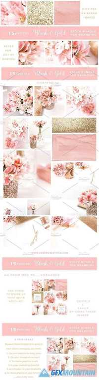 Blush and Gold Stock Photos BUNDLE 1284741