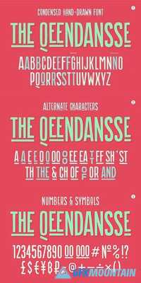 Hand-drawn font the Qeendansse 1286471