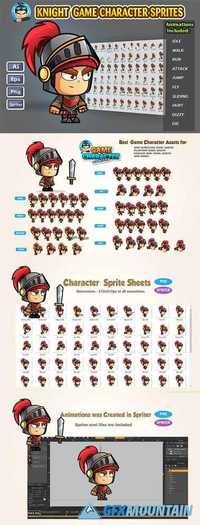 Knight 2D Game Character Sprites 1232103