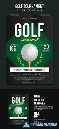 golf flyer 17513013 free download graphics fonts vectors print templates. Black Bedroom Furniture Sets. Home Design Ideas