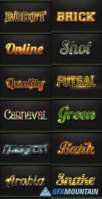 12 Photoshop Text Effect Styles 20167363