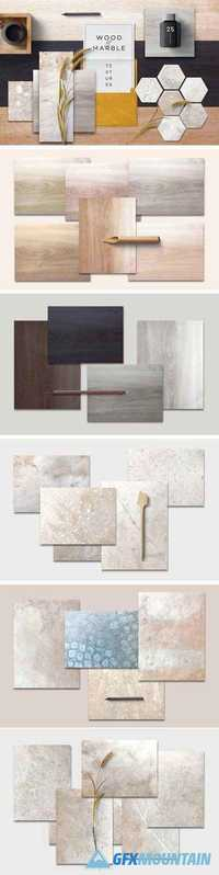 Wood & Marble Textures - 1580339