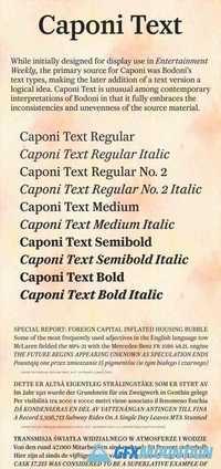 Caponi Text Font Family » Free Download Graphics, Fonts, Vectors