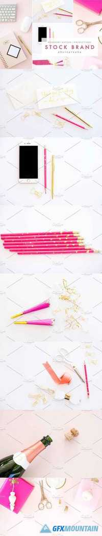 PINK & GOLD STYLED STOCK BUNDLE 1585819