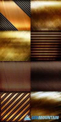 Golden Metal Background for Industrial or Technology Design