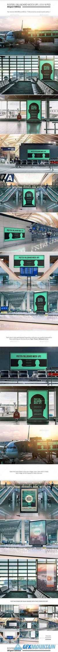 Poster Billboard Mock-ups - Airport Edition 12875743