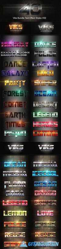 40 Viks Bundle Text Effect Styles V02 20291025