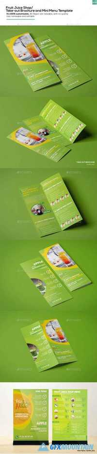 Fruit Juice Shop/ Take-out Brochure and Mini Menu Template 16402367