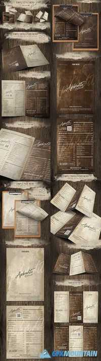 Simple Style Menu Pack (Single - Bifold - Trifold) 20391050