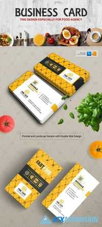 Business Card Design Template for Fast Food / Restaurants / Cafe 20270687