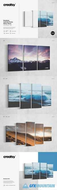 Multiple Canvas Prints Mockup Set 1756158