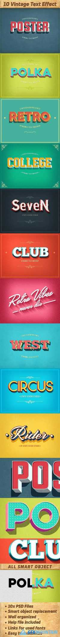 Vintage Text Effects Pack 20375751