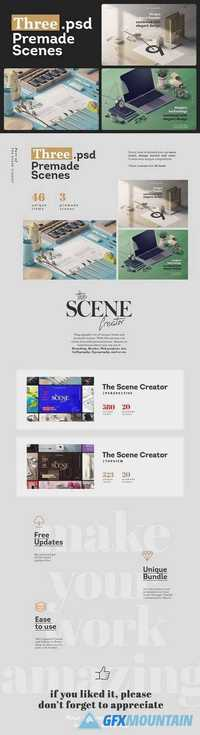 Three.psd Premade Scenes 1674717