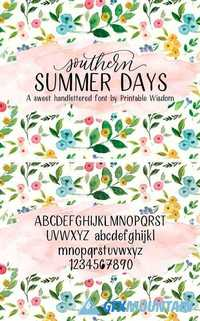 Southern Summer Days Font 1709678