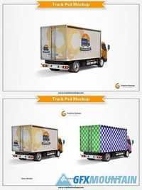 Delivery Truck Psd Mockup 1690331