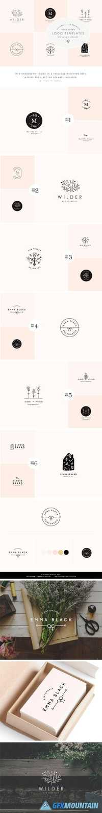 Feminine Premade Logo Bundle Vol. 1 1741021