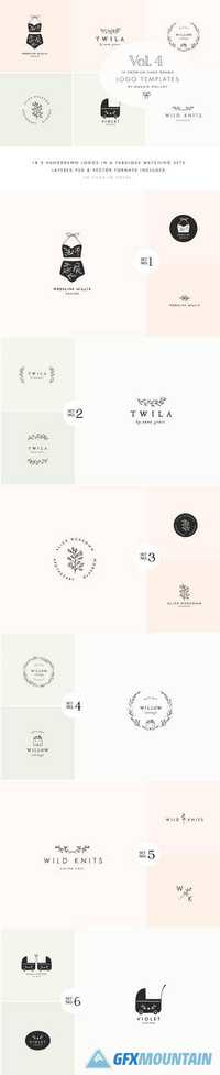 Feminine Premade Logo Bundle Vol.4 1790081