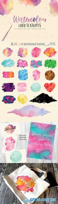 Watercolor Logo Textures  1739272