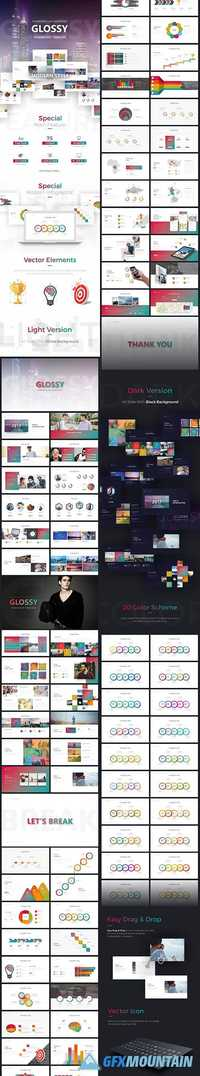 Glossy PowerPoint Template 19873464