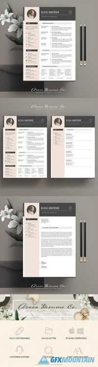 Resume Template 3 Pages Pack OA 1846649