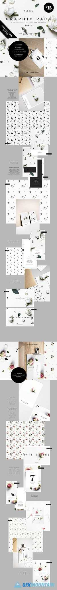 Floral Graphic Pack + bonus files 1802733