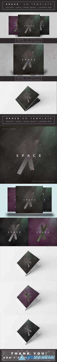 SPACE CD COVER TEMPLATE 1808924
